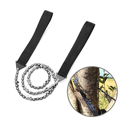 NOBLJX Tasche Hand Kette Zugsäge 11 Zähne Tragbare Falten Bidirektionale Outdoor Survival Camping Kette Baum SAH Holz Schneiden Bushcraft Ausrüstung
