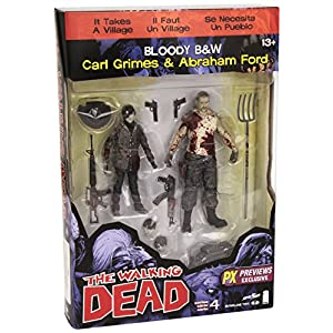 Walking Dead The Serie 4 Bloody Carl Grimes Y Abraham Ford Figura de acción en septiembre 2