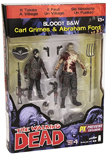 Walking Dead The Serie 4 Bloody Carl Grimes Y Abraham Ford Figura de acción en septiembre 1