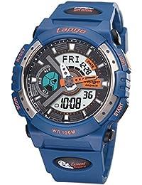 Exhibición doble / reloj electrónico de múltiples funciones / reloj militar luminoso / reloj de los deportes / tabla de salto impermeable / relojes de los hombres , navy blue n3