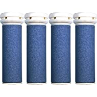 4 x Rouleaux Ponceurs Micro-Minéraux Extra Rugueux de Remplacement Bleus pour Express Pedi de Scholl