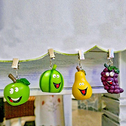 4er Set Tischtuchbeschwerer Motiv Früchte mit Gesicht Tischdeckenhalter Tischdeckengewichte
