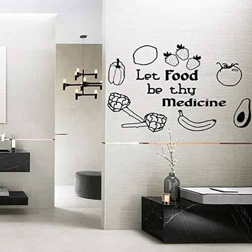 Lebensmittel DeineMedizin Sein tapetedekorationwandaufkleber für küche dekordekorationwandbilder 58 * 82 cm ()