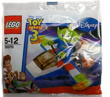 LEGO Disney / Pixar Toy Story Exclusive Mini Figure Set #30070 Green Alien with Space Vehicle Bagged (japan import)