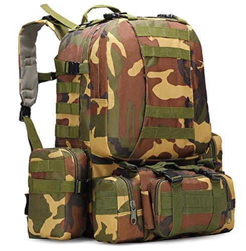 Yy.f Militärtarnung Wandern Taktische Tasche Bergsteigen Rucksack Großes Portfolio Camping Reisetaschen Oxford-Tuch Im Freien Rucksack. Multicolor A