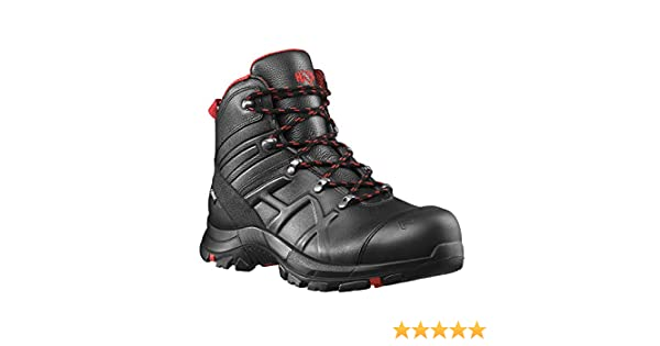 9c3e21387d1 Haix Black Eagle Safety 54 Mid Light S3-Safety Shoe Good Protection  Function Black-red