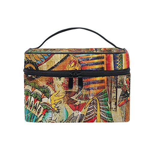 325edd8782 COOSUN Style vintage sac cosmétique sac en toile Voyage Toiletry égyptien  poignée sur le dessus une