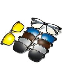 756333c0e7d WELUK Plastic Magnetic Polarized Clip-on Eyeglasses Frame Night Driving  Sunglasses (Multicolour)…