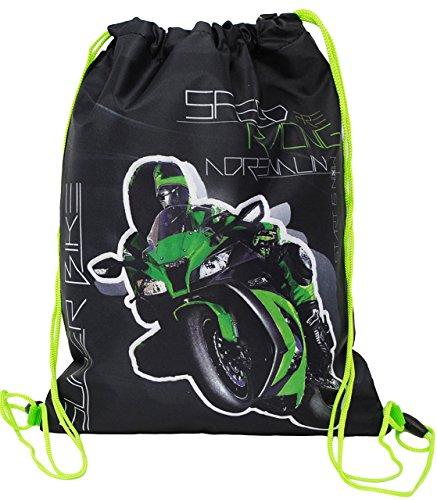 Unbekannt Sportbeutel - Turnbeutel - Schuhbeutel __  Motorrad Kawasaki ZX-10R - Ninja  - wasserfest / wasserabweisend & abwischbar - für Kinder - Schulbeutel Kinderga..