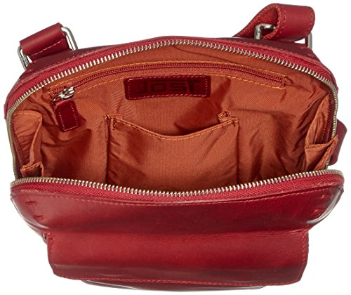 JOST 8650-005 Herren Reißverschluss-Schultertasche, Rot (Red) Rot (Red)