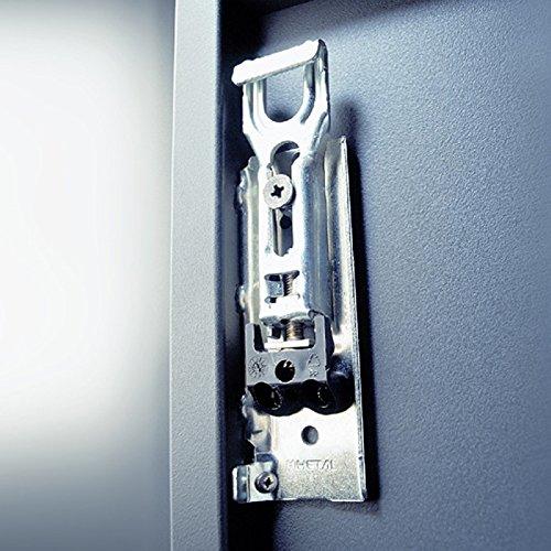 Schrank Aufhänger (1 Paar Schrankaufhänger Möbel-Aufhänger unsichtbar Oberschrank Anschlag: rechts und links Tragkraft 130 kg je Paar Stahl verzinkt Schrankaufhängung zum Einpressen & Schrauben von SO-TECH®)