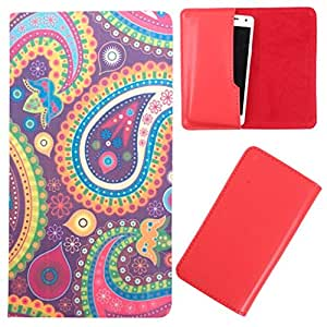 DooDa - For Intex Aqua Slice PU Leather Designer Fashionable Fancy Case Cover Pouch With Smooth Inner Velvet