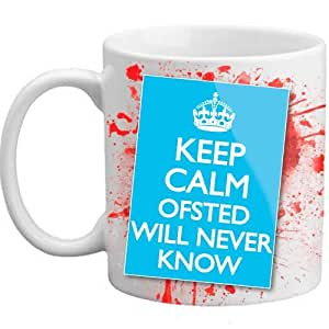 Freelogix Keep Calm Ofsted Will Never Know Novelty Blood Teacher Mug
