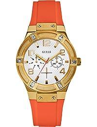 Guess W0564L2 - Reloj de lujo para mujer, color blanco/naranja