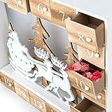 Dmail - Calendario dell'avvento paesaggio natalizio in legno con LED