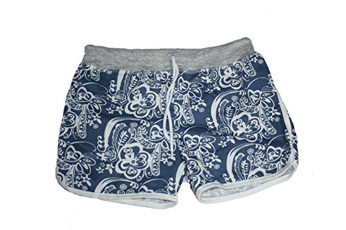 By Samanthajane Clothing - Short - Femme Blue Flowered