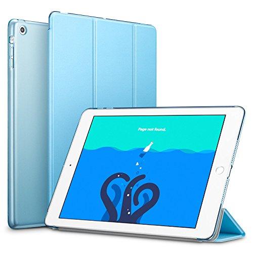 iPad Mini Hülle, ESR Yippee Series Auto aufwachen/Schlaf Funktion Ledertasche Ultradünnen Leichtgewicht Anti-Kratzer Schutzhülle mit durchschaubar Rückseite Abdeckung für iPad mini 3/2/1 (Himmel Blau) (Leder Blues Tri-fold Schwarz)