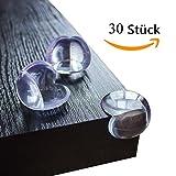 Eckenschutz Ammoi Kantenschutz 30st Baby Eckenschützer Klebeband transparent aus Kunststoff für Tisch- und Möbel-Ecken - Stoßschutz für Baby's und Kinder … (30st Clear)