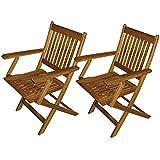 Set de 2 sillas plegables para jardín