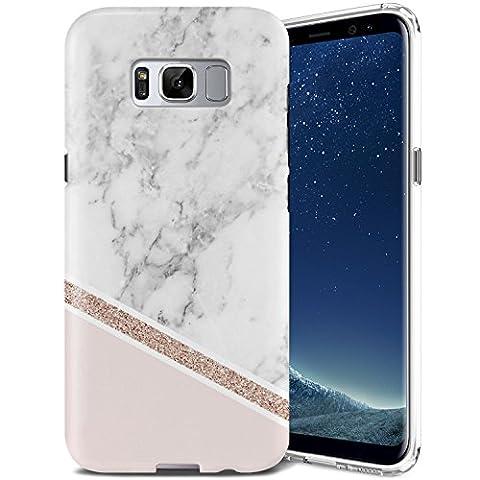 Coque Samsung Galaxy S8, ZUSLAB Motif Marbre Silicone TPU Housse de Protection Fine Flexible Anti-choc Etui Case [Marbre Delux]