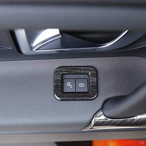 car-styling ABS Chrom Zubehör Schwarz Ash Wood Grain Kinder Lock Dekoration Rahmen Cover Trim Aufkleber für Discovery Sport 2015–2017