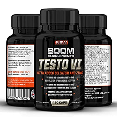 Testosterone Boosters - #1 Proven Testosterone Boosting Supplement For Men And Women* Formerly TESTOBOOM Now TESTO VI*. It Contributes to *Normal Testosterone Levels, *Reduction in Fatigue, & *Normal Energy-Yielding Metabolism* or Your Money Back! *100% P