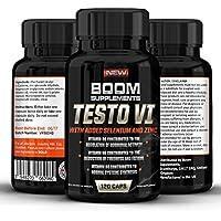 Testosterona - Suplemento nº 1 para hombres y mujeres | 120 Capsulas | Alcanzar niveles normales de testosterone | Reducción de fatiga | Obtención metabólica normal de energía | Garantía total