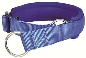 Collier étrangleur Premium, M: 40–46 cm/30 mm, bleu pour chien