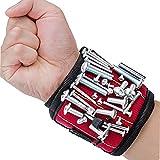 Anderlay Wristband Magnetico Braccialetto Magnetico Fascia da Polso con 5 Potenti Forti Magneti,Traspirante Regolabile Bracciale da Lavoro Magnetico