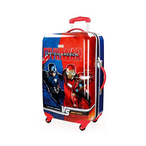 61234f1a1 Maletas de Spiderman. 4721551 Trolley rígida de mano en ABS de Capitán  América 67x42x24 cm
