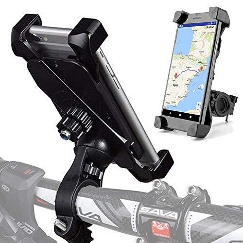 Fahrrad Handyhalterung für alle iPhone 5 6 7 8 X, Samsung Galaxy S6 S7 S8 S9 Edge, Huawei, Sony, Motorrad Handy Halterung, Befestigung am Lenker, Universal Handyhalter 3.5 - 6.5 Zoll