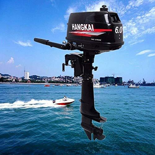 YUNRUX 2-Takt Benzin-Bootsmotor Außenbordmotor 6 PS Außenborder Elektromotor Benzinmotor Bootsmotor für Schlauchboote, Fischerboote Wassergekühlt CDI