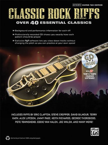 Classic Rock Riffs Authentic Guitar Tab Edition Book by Hal Leonard Corp. (2011-12-01)