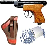 #2: BE's TOY WOODEN AIR GUN BROWN FOR PRACTICE ON CARDBOARD, COKE CAN ETC. (.22M PELLETS)