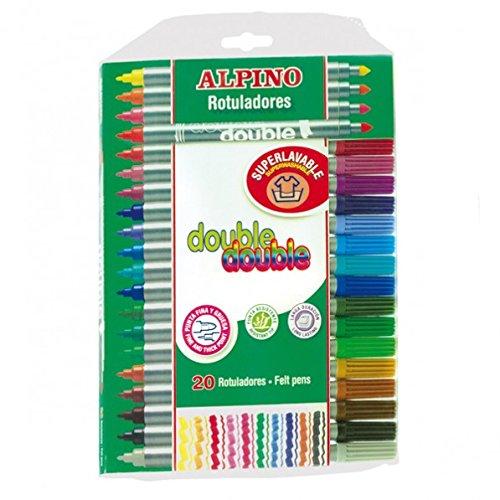 Alpino AR000058 – Estuche de 20 rotuladores, colores surtidos