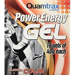 Quamtrax Nutrition Suplemento para Deportistas Energy Gel, Sabor de Cola - 18 Sobres