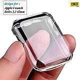 Taslar Apple Watch Series 2/3 42MM Full Cover Case (Transparent)