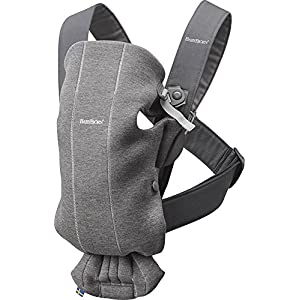 BABYBJÖRN Baby Carrier Mini, 3D Jersey,  Dark Grey   14