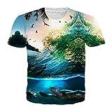 DUIT Summer Coconut Tree 3D Printed T Shirt Women Men Harajuku Nightfall Hawaiian - Best Reviews Guide