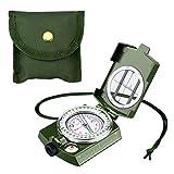 Enkeeo Militär Marschkompass wasserdichte Taschenkompass Multifuktionaler Kompass für Camping