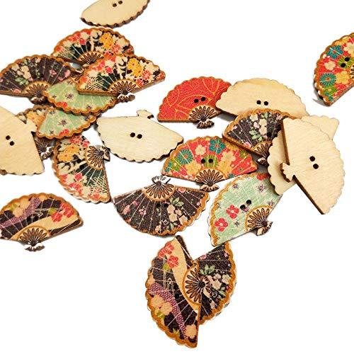 iBaste 50 Stück/Pack Druckknöpfe Druckknöpfe Kleidung Holzknöpfe für Handwerk, DIY Nähen Handwerk Schuhbeutel Dekoration Stricken Baby Kleidung Bekleidungszubehör