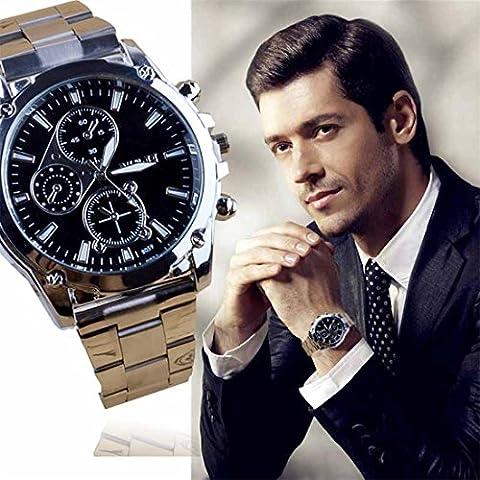 Goodsatar Hommes Bracelet en acier inoxydable Machines Quartz Sport Montre