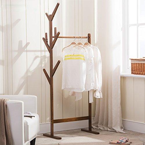 LOFTfan kleiderständer garderobe Massivholz Kleiderständer Stand frei Wohnzimmer Garderobe einfache hochwertige Kleiderbügel Stock garderobe hutablage (Farbe : A, größe : 80cm)