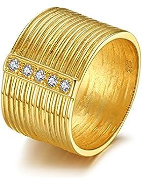 Jewelrypalace 0.1ct Galvanotechnik 18K Gelbgold Besondere Schraubenlinie Damen Verlobung Trauung Partnerschaft...
