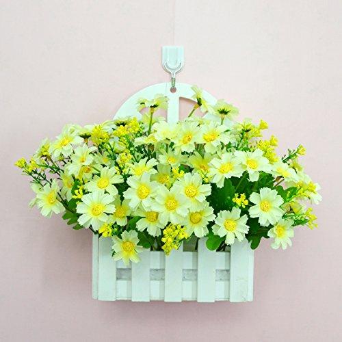 ALLDOLWEGE Personnalisé simple émulation menuiserie plastique en pot en pot pot de fleurs d'émulation de dans le mur lumière jardin exquis decorationThatThe Kit blanc +Hook