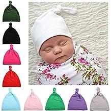 Opuss - 5 colori nodo cappello beanie Baby neonato ragazzi ragazze cotone  cappellino regolabile per bambino 4eee8d572515