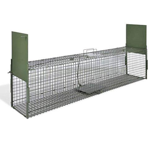 mewmewcat Trappola per Animali 2 Porte 150 x 30 x 30 cm