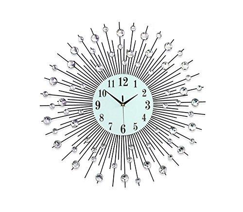 Salon horloge murale mode lumineuse montre européenne personnalisée table suspendue muette ( taille : 75*75cm )