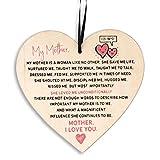 The Twiddlers Holzgeschenk & Holzschild in Herzform mit Text für Mütter Mutter zu Weihnachten - handgefertigt mit Liebe zum Detail