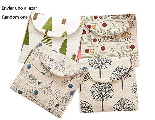 BIGBOBA Damenbinden-Tasche aus Baumwolle, für Damen / Mädchen, für Make-up, Damenbinden, Geldmünzen, Kosmetik -
